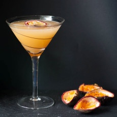 Passion Fruit Rhubarb Martini Recipe
