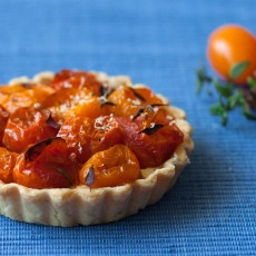 Roasted Tomato, Ricotta & Thyme Tartlet Recipe
