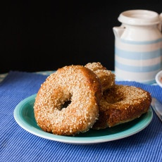 Wholewheat Bagels Recipe Sesame Everything