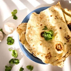 Garlic Coriander Naan Bread Recipe